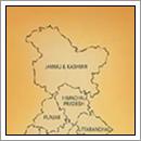 Kaart Jammu en Kasjmir - India