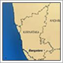 Kaart Karnataka - India