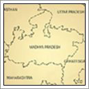 Kaart Madhya Pradesh - India