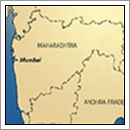 Kaart Maharashtra - India