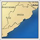 Kaart Orissa - India