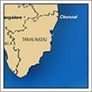 Kaart Tamil Nadu - India