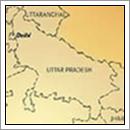 Kaart Uttar Pradesh - India